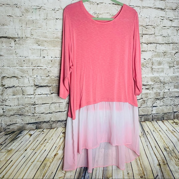 LOGO Pink Ombre Tunic Plus 1X